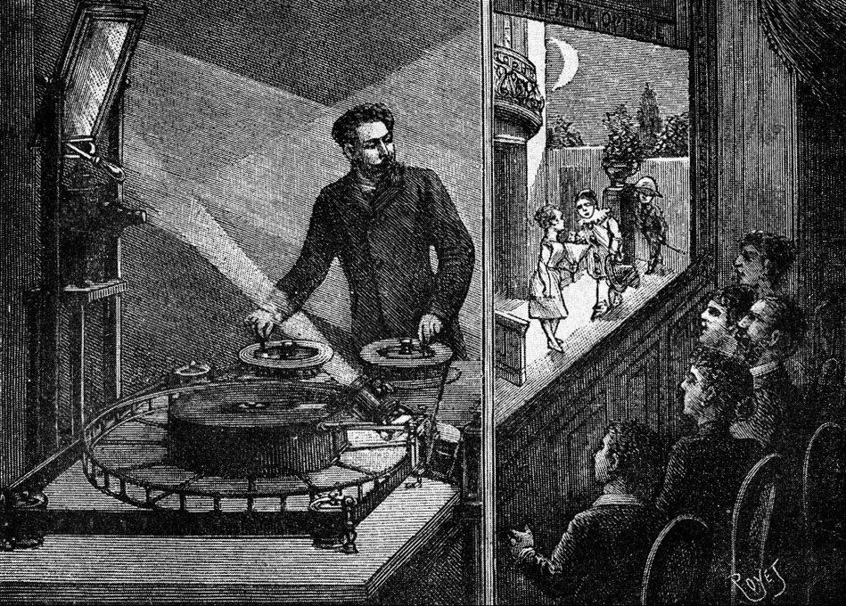 """Résultat de recherche d'images pour """"Le théâtre d'optique inventé par Emile Reynaud."""""""