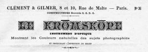 Le KROMSKOPE commercialisé par Clément & Gilmer dans Images projetees kromskop-21-300x106